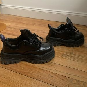 Eytys Angel black leather sneakers, worn once